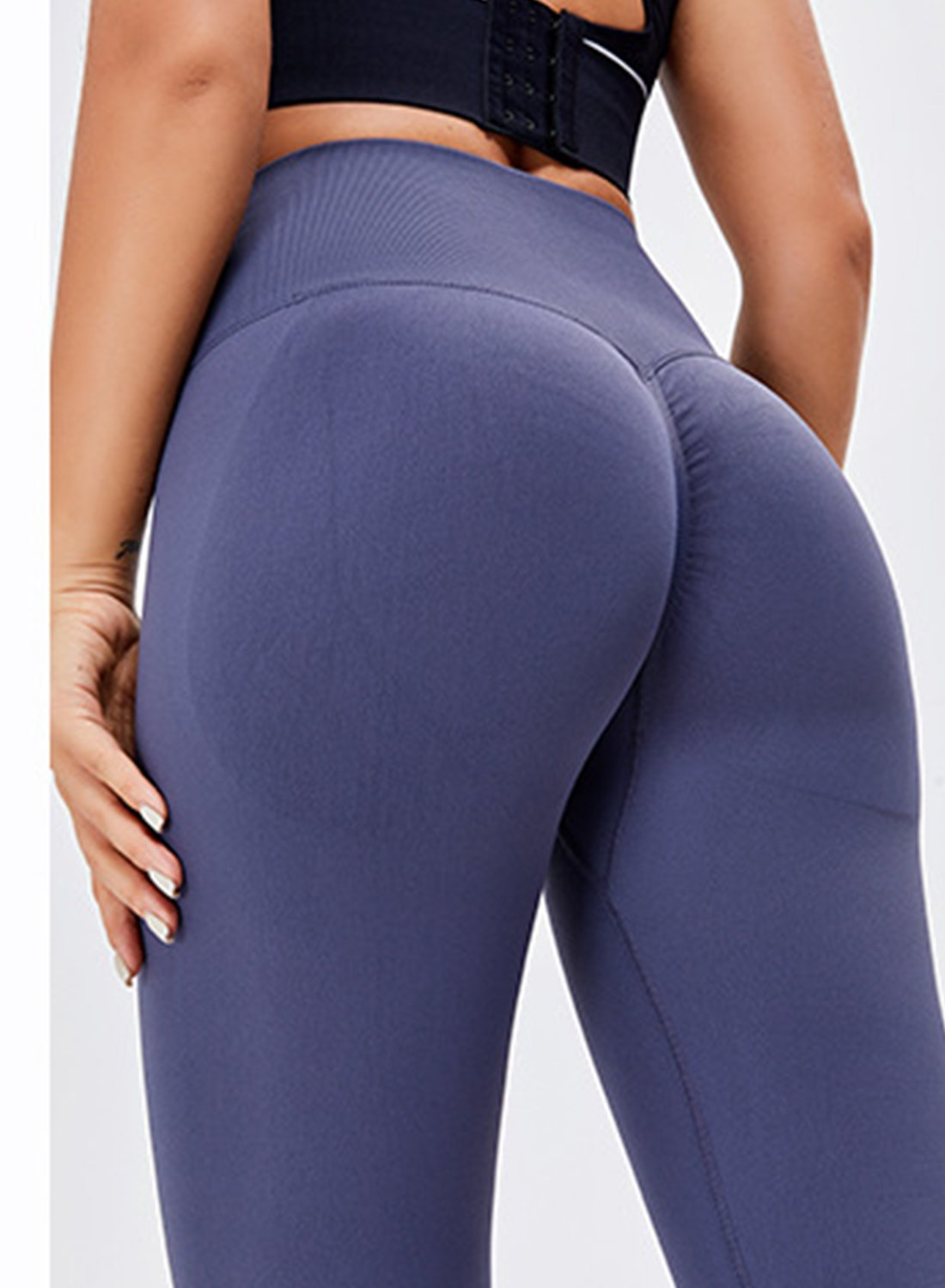 High Waist Body Shaping Running Sports Leggings-JustFittoo
