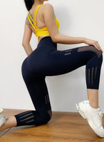Load image into Gallery viewer, Hollow Out Seamless High Elastic Leggings-JustFittoo