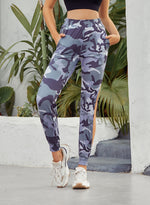 Load image into Gallery viewer, Ruched Thigh-high Slit Tie-dyed Pants