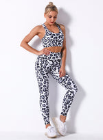 Load image into Gallery viewer, Breathable Print Women 2PCS Sport Bra and Legging-JustFittoo