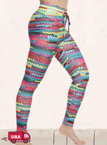 Load image into Gallery viewer, Color Block See-Through Mesh Leggings-JustFittoo