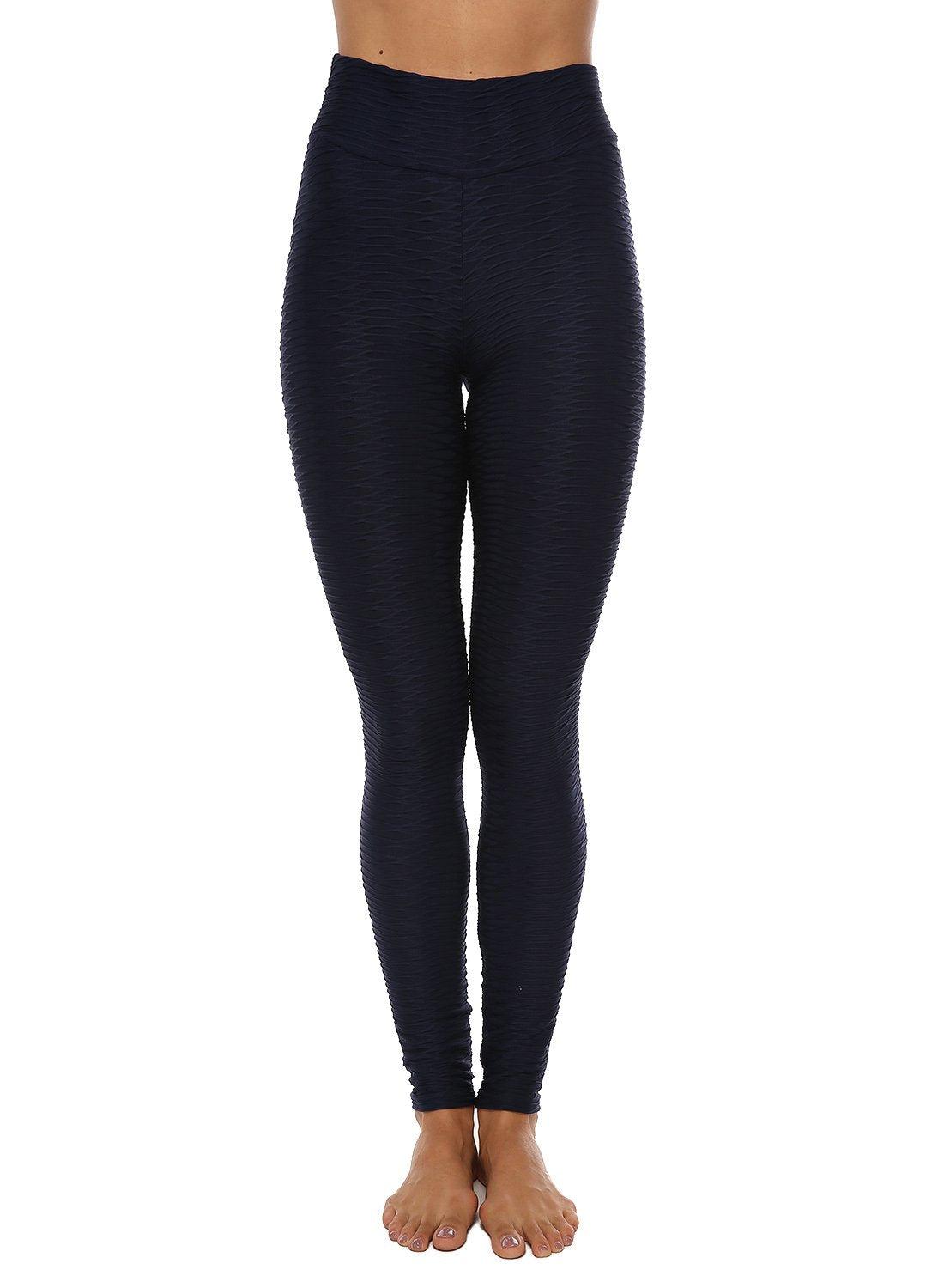 Textured Fitness Lifting Bodycon Leggings-JustFittoo