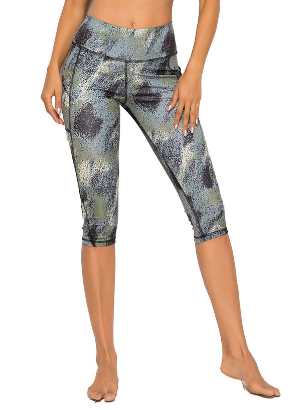 Floral Capris Yoga Pants for Fitness-JustFittoo
