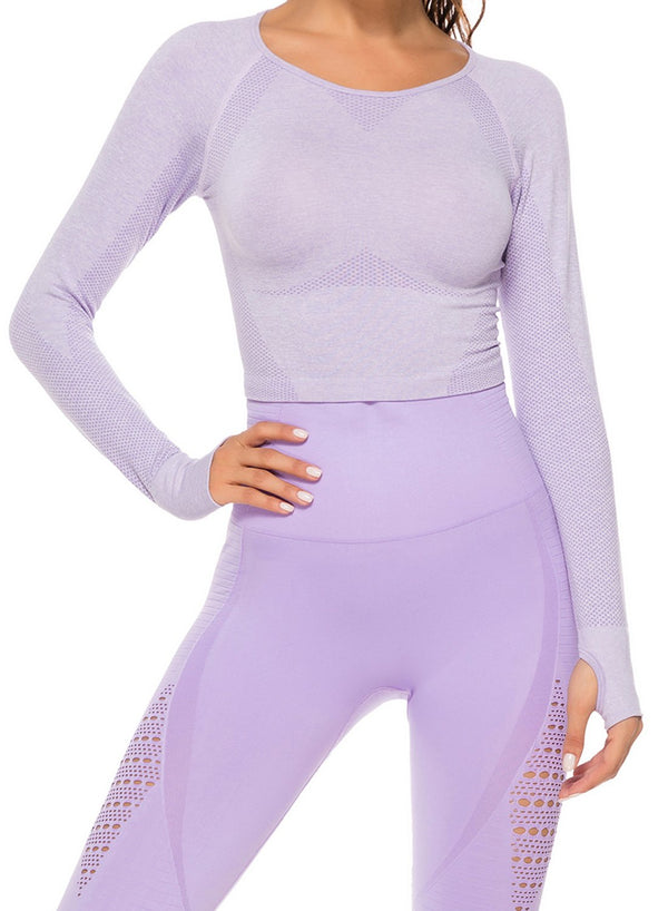 Women's Breatheable High Elastic Soft Seamless Long Sleeve Yoga Top