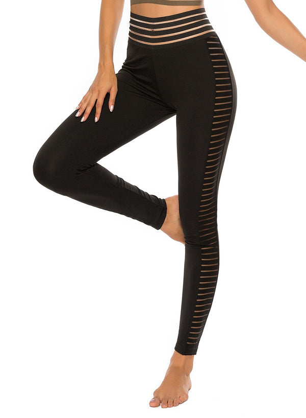Women's Ruched Hollow Waistband Yoga Pants-JustFittoo
