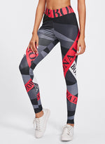 Load image into Gallery viewer, Letter Print Women Fitness Workout Leggings-JustFittoo