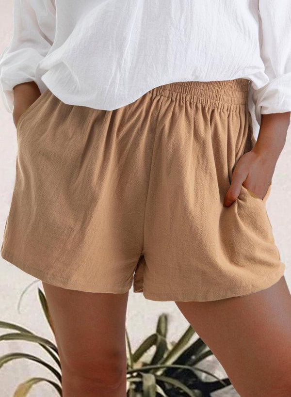 Soft Women Cotton Casual Summer Shorts