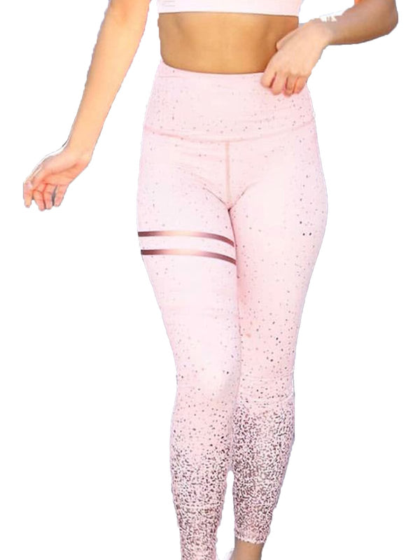Bronzing High Waist Tummy Control Leggings-JustFittoo