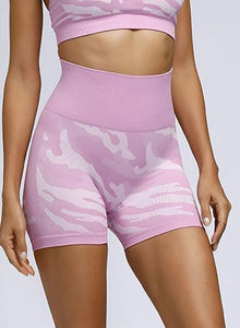 Squat Proof Camouflage Seamless Women Sport Short