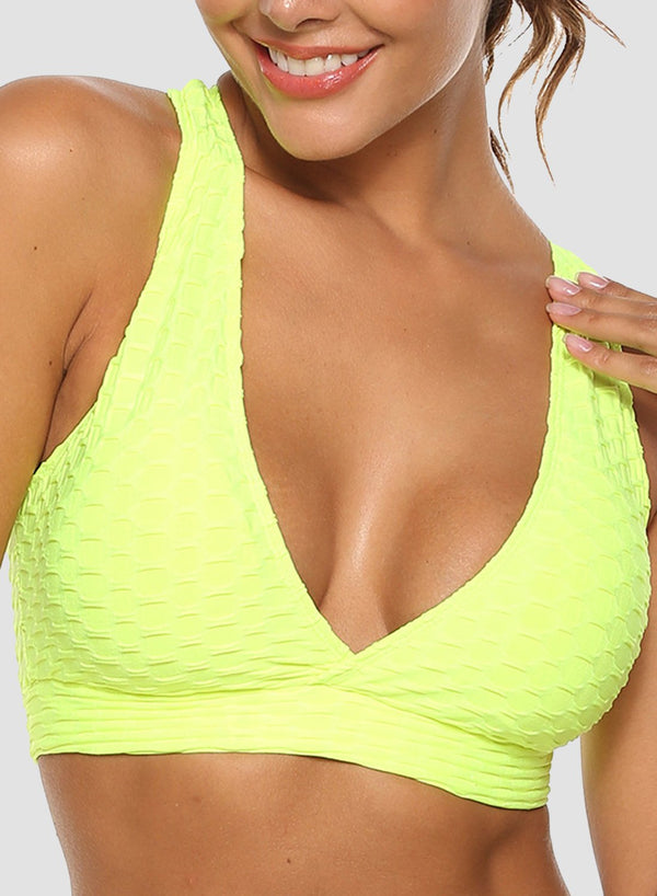 Criss-cross Straps Breathable Textured Top
