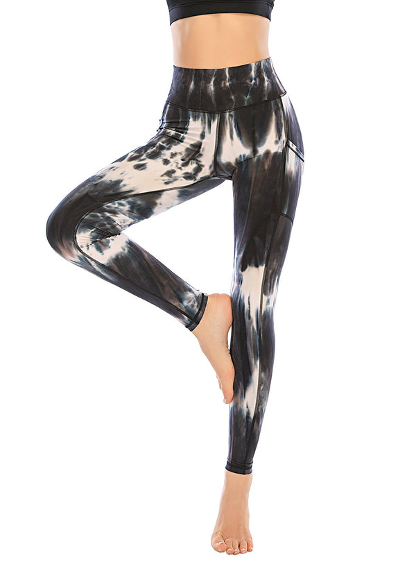 Tie Dyed Women Yoga Sport Leggings
