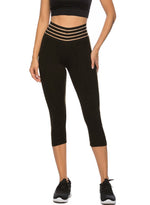 Load image into Gallery viewer, Women's Elastic Waistband Workout Capris Yoga Pants-JustFittoo