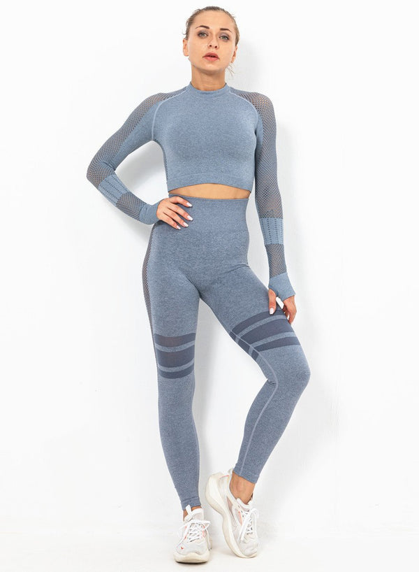 Women Long Sleeve Fitness Top and Legging