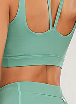 Load image into Gallery viewer, Solid Color Cross Back Women Sport Bra