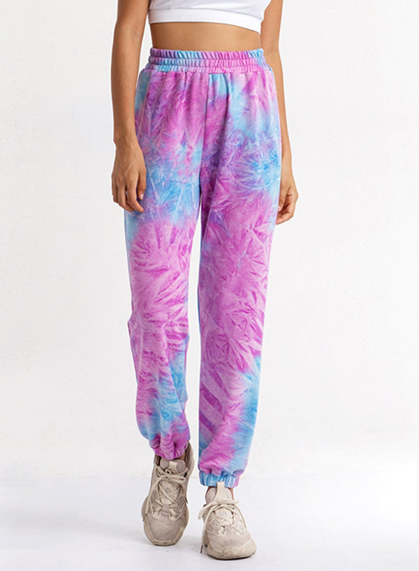 Tie-dyed Comfy Elasticated Waist Pants