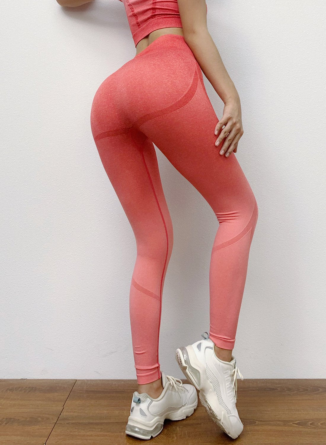 Fittoo Seamless Leggings Hollow Out Tone in Tone Leggings
