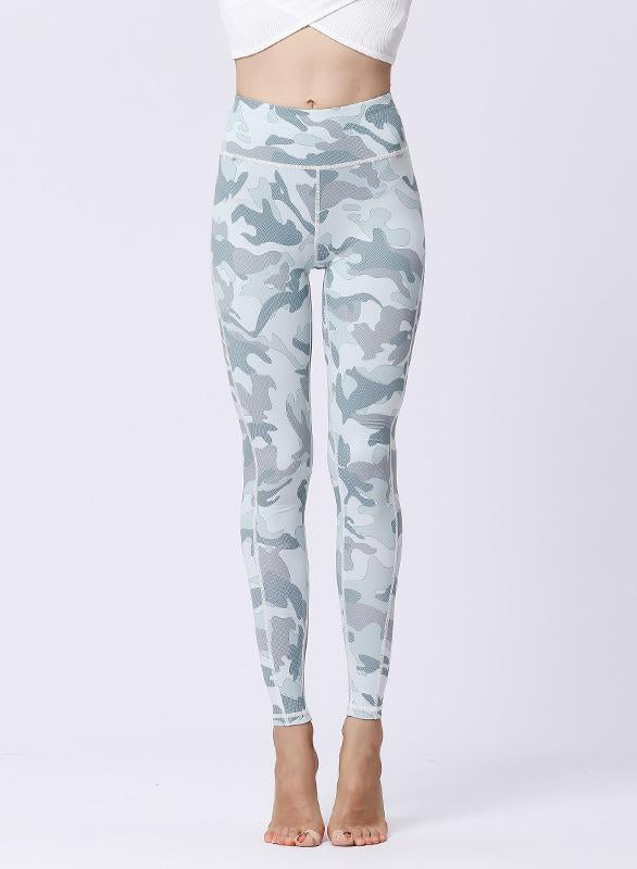 Camouflage Print Design Women Sports Leggings-JustFittoo