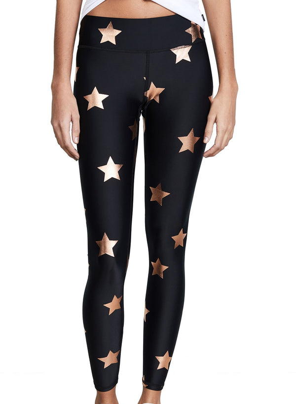 Star Print Breathable Women Fitness Sports Leggings-JustFittoo