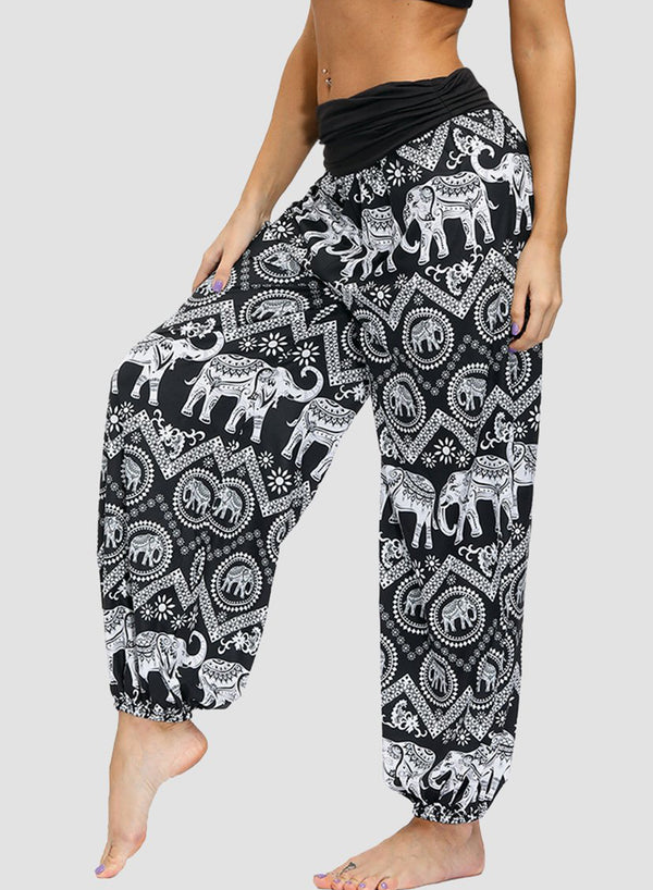 White Elephants Typical Tailand Local Soft Casual Pants