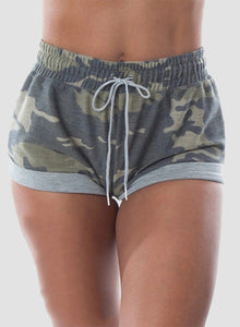 Camo Scrunch Booty Breathable Comfy Shorts