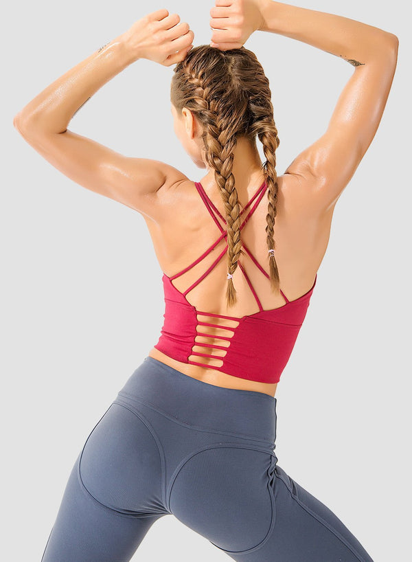 Spaghetti Strap Low-intensity Sports Bra