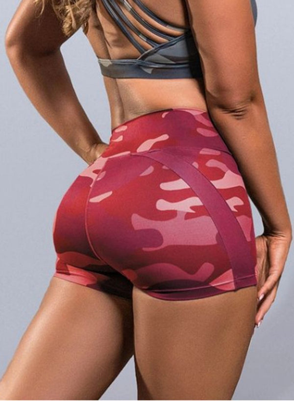 Camo Breathable Tight Fit Shorts