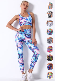 Breathable Print Women 2PCS Sport Bra and Legging