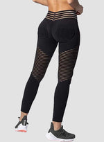 Load image into Gallery viewer, Women's Ruched Hollow Mesh Split Joint Yoga Pants-JustFittoo
