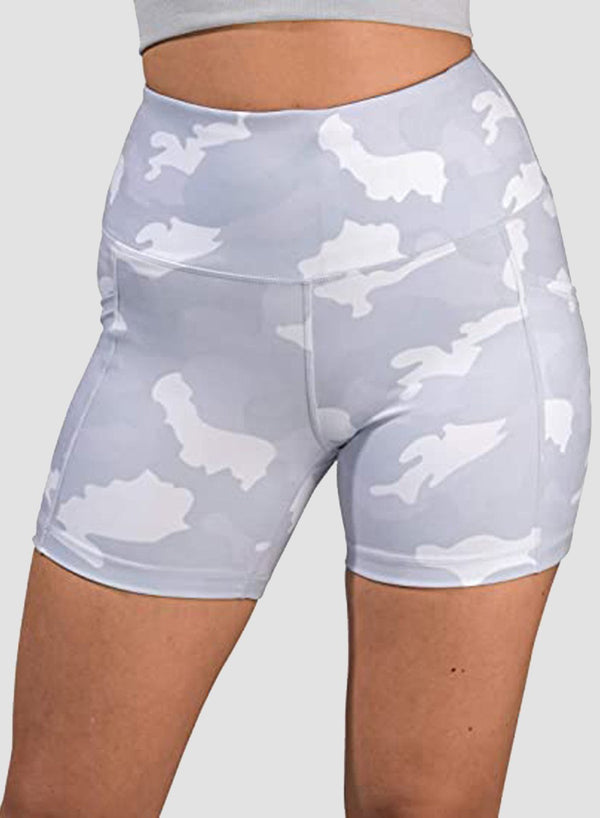 Camo Breathable Pockets Shorts