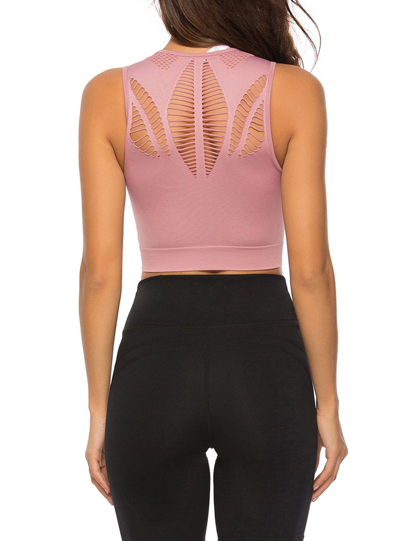 Seamless Hollow Fitness Yoga Tank Top Sport Bra