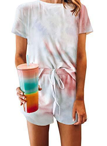 Summer Casual Tie Dyed T Shirt and Short Set