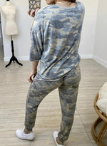 Load image into Gallery viewer, Camo Elasticated Waistband T-shirt and Pants