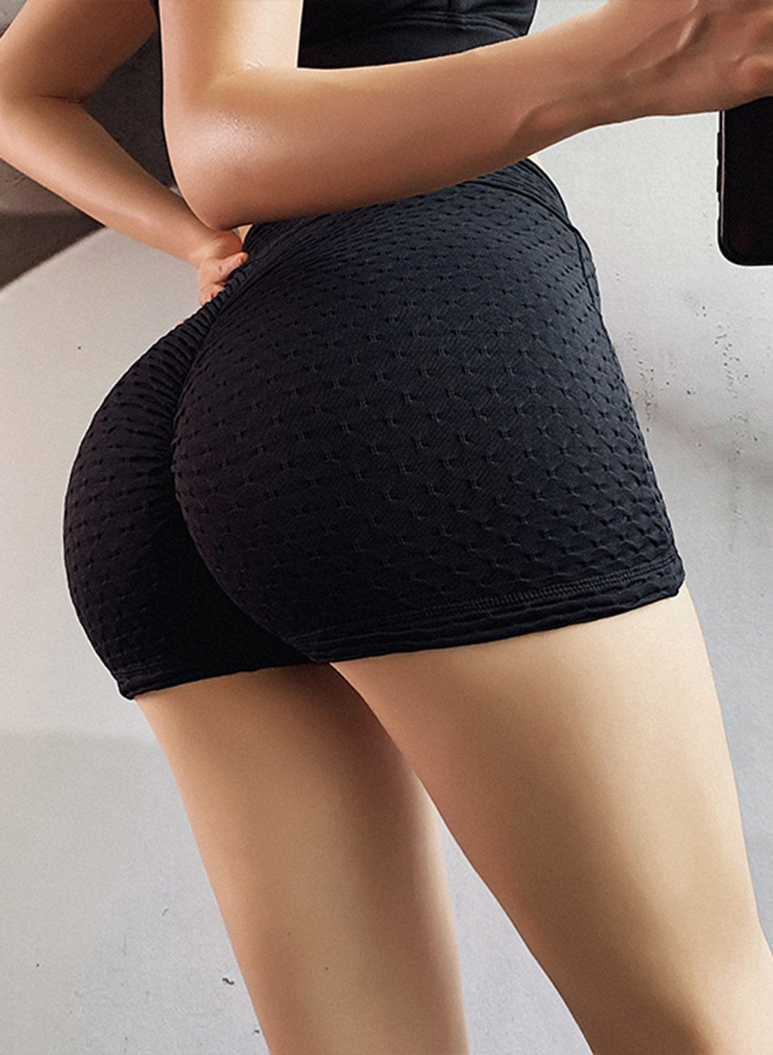 Butt Lifting Stretchy Ruched Shorts