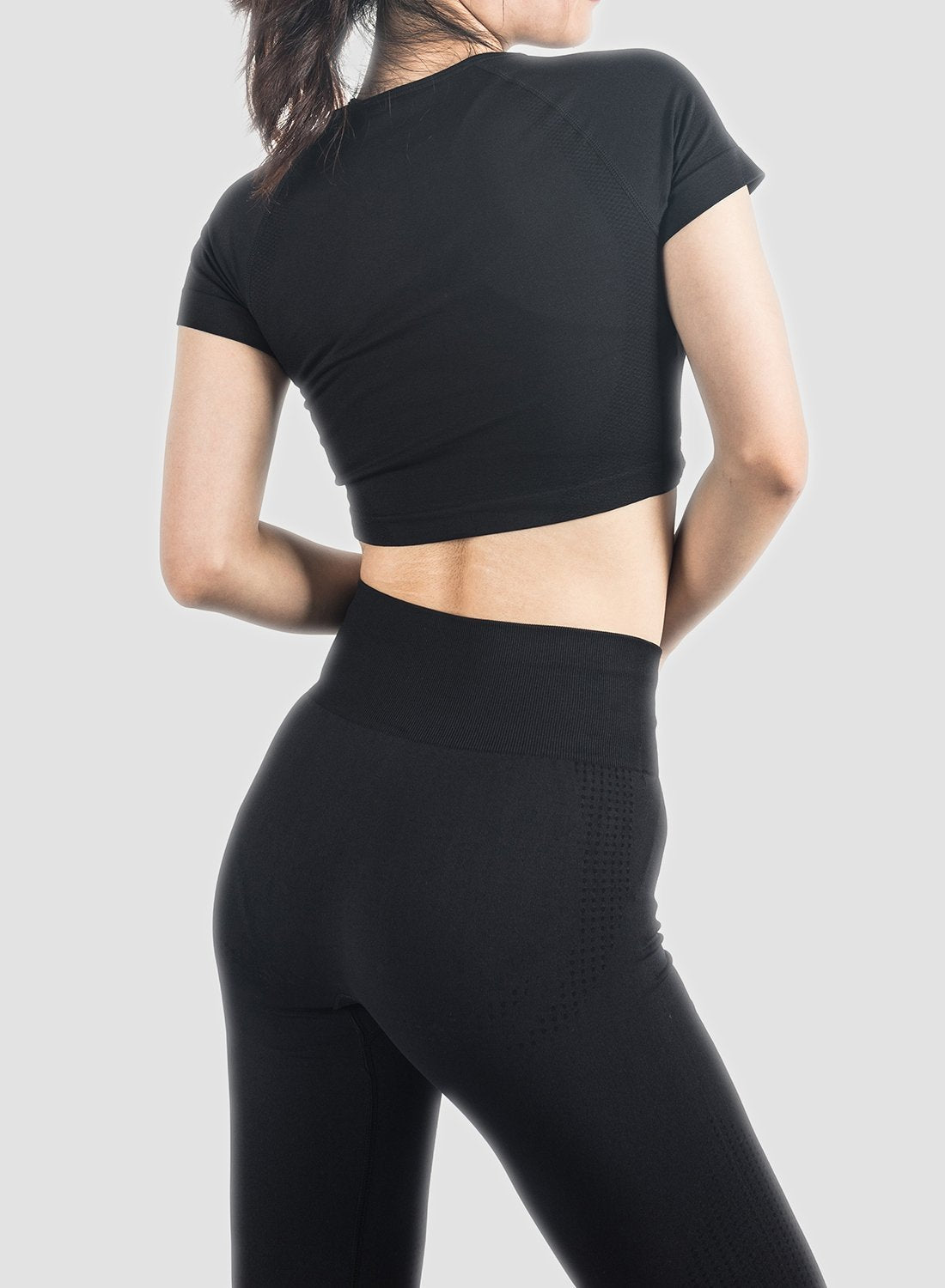 Solid Color Seamleass Body Form Tops