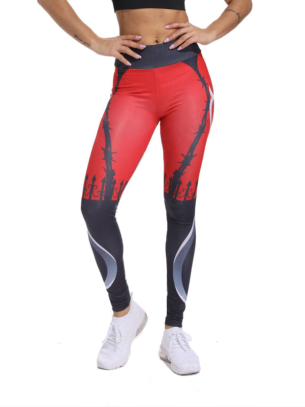 Fitness Tummy Control Floral Print Leggings-JustFittoo