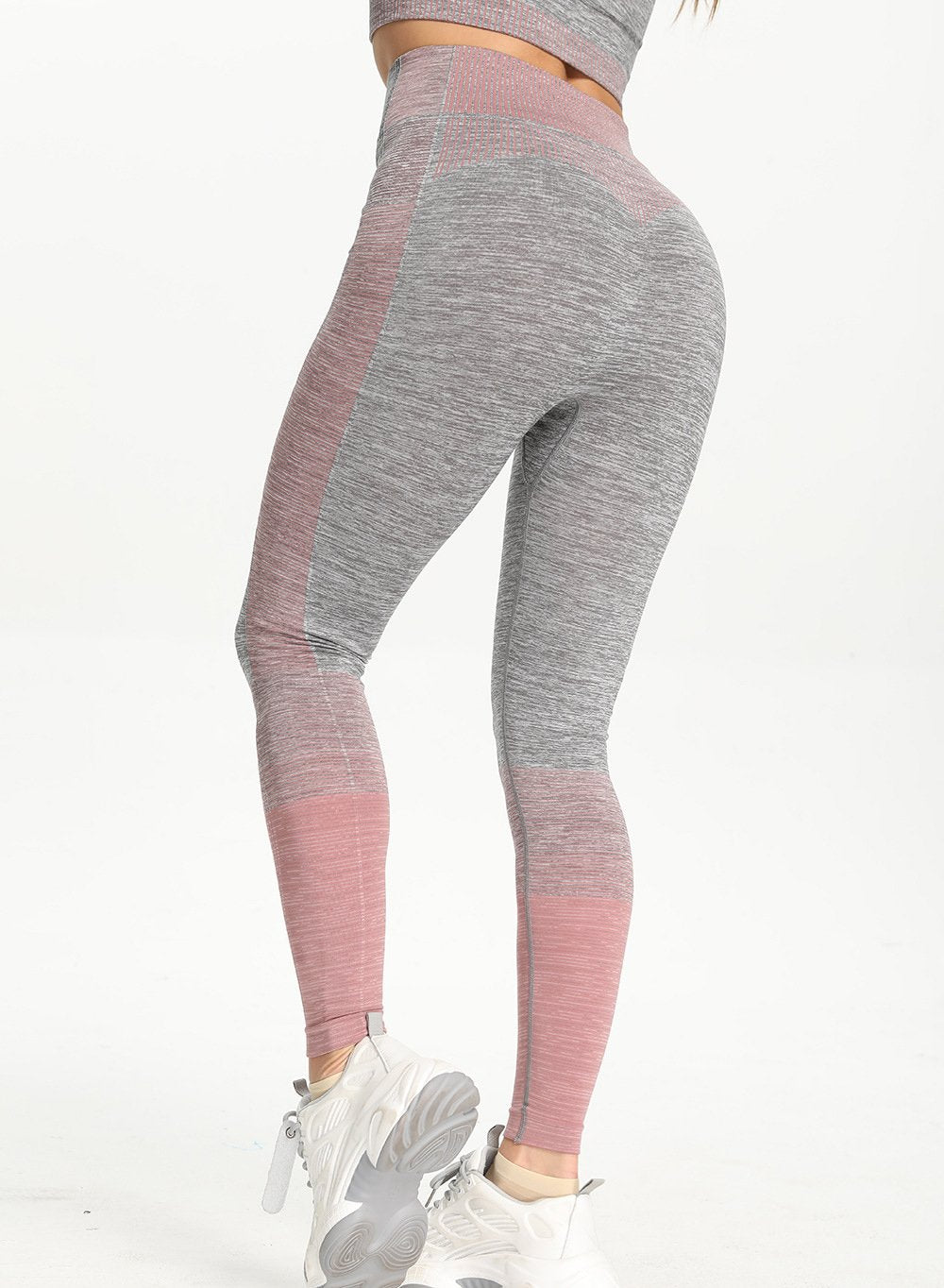 Women Comfy Contrast Color Running Sports Leggings-JustFittoo