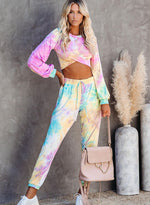 Load image into Gallery viewer, Fashion Style Tie Dyed Fall Casual Long Sleeve Two Pieces Sets