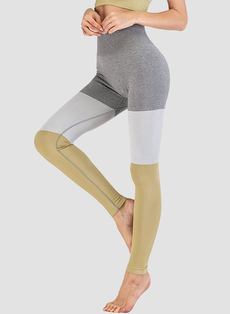 Three-tone Seamless Ultra Soft High Waisted Yoga Leggings-JustFittoo