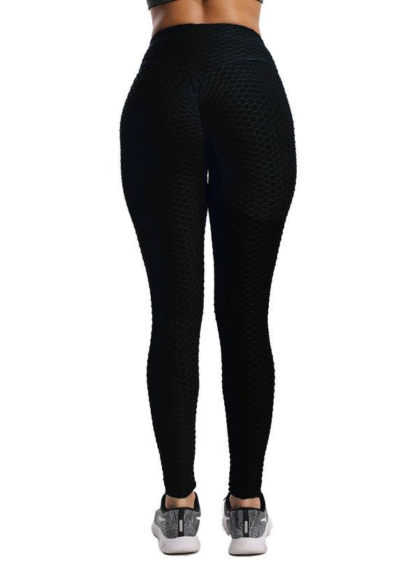 Textured Ruched Tummy Control Leggings