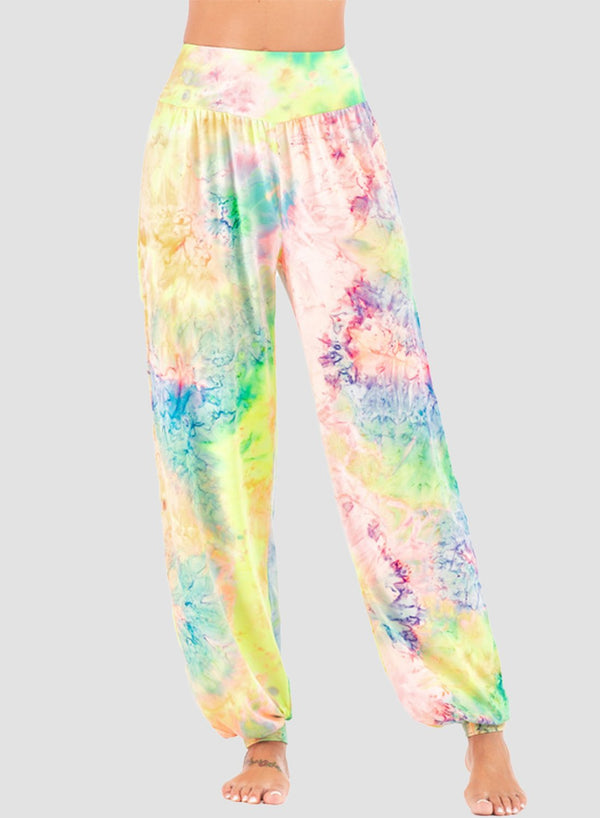 Tie-dyed High Elastic Casual Pants