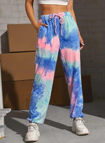 Load image into Gallery viewer, Summer Fashion Women Tie-dyed Drawstring Pants