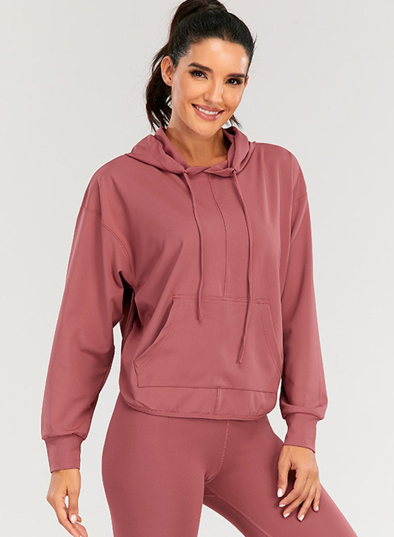 Long Sleeve Women Pocket Casual Sport Hoodie