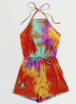 Load image into Gallery viewer, Comfy Elasticated Waist Tie-dyed Jumpsuit