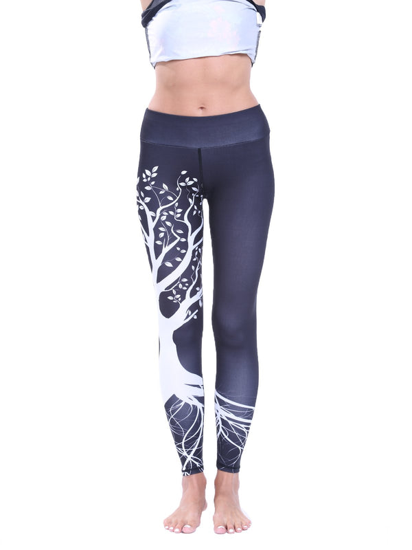 Women's Elastic Waistband Elk Print Leggings