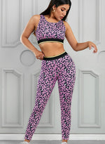 Load image into Gallery viewer, New Leopard Print Women Sports Bra and Legging