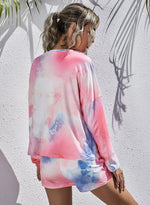 Load image into Gallery viewer, Tie Dyed Long Sleeve and Short Pants Casual Set