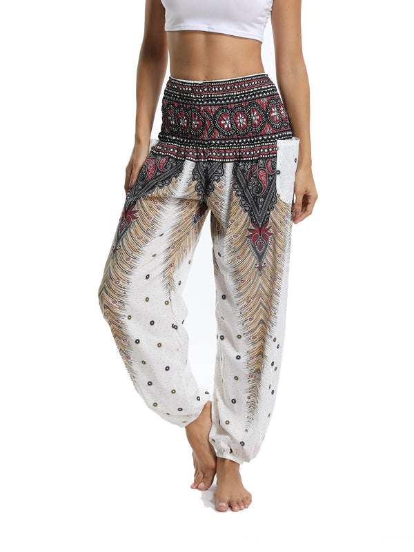 Women's Wide-Leg Print Yoga Pants