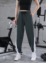 Load image into Gallery viewer, Two-tone Elasticated Drawstring Waistband Casual Pants