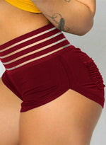 Load image into Gallery viewer, Ruched Butt Lifting Special Elastic Waistband Shorts