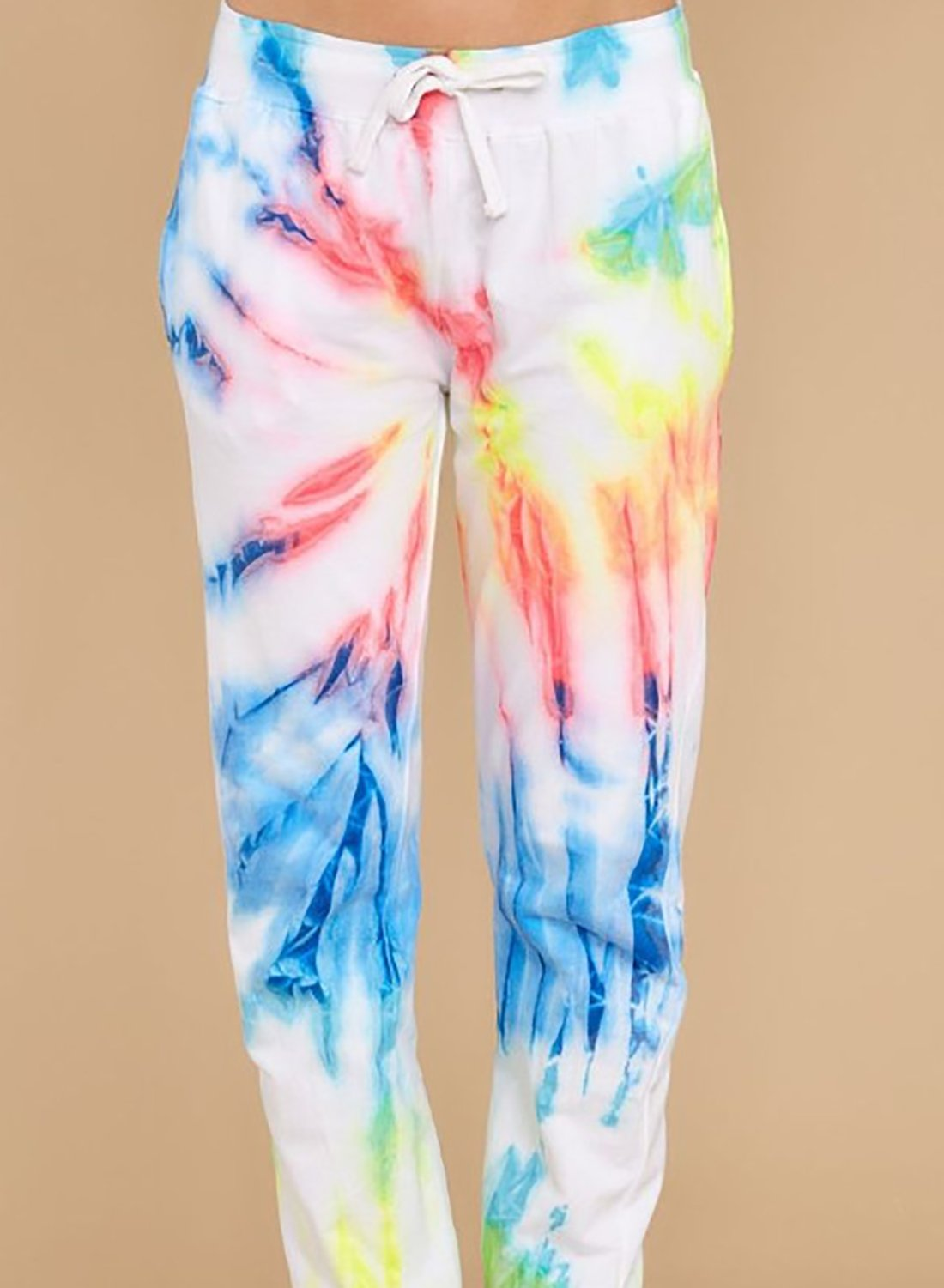 Plus Size Women Tie Dyed Casual Pants